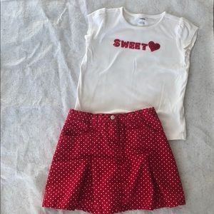 Gymboree Size 9 Outfit (Skort and Shirt)